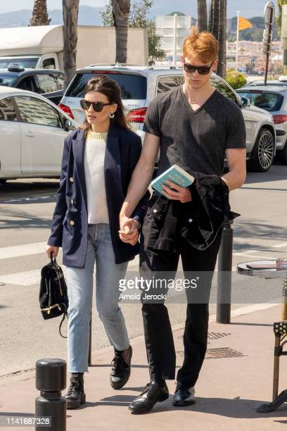 Emma Mackey and Daniel Whitlam are seen walking on the croisette on day six of the 2nd Canneseries International Series Festival on April 10 2019 in...