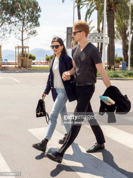 Emma Mackey and Daniel Whitlam are walking on the croisette on day six of the 2nd Canneseries International Series Festival on April 10 2019 in...