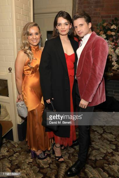 Emma Mackey and guests poses the Netflix BAFTA after party at Chiltern Firehouse on February 2 2020 in London England