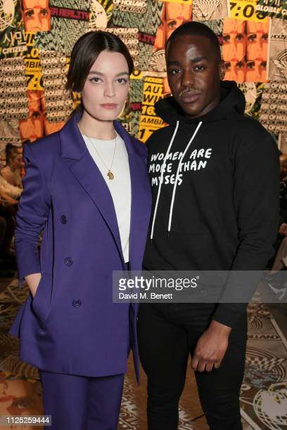Emma Mackey and Ncuti Gatwa attend the House of Holland AW19 London Fashion Week catwalk show showcasing the limitededition Vype ePen 3 / vaping...