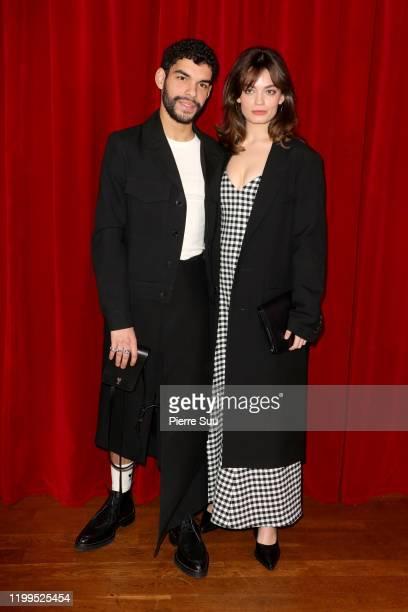 Emma Mackey and Sami Outabali attend the Ami Alexandre Mattiussi Menswear Fall/Winter 20202021 show as part of Paris Fashion Week on January 14 2020...