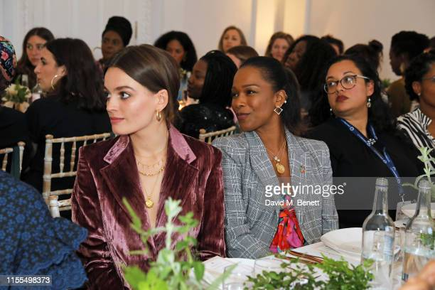 Emma Mackey and Sharmadean Reid attend The Wing intimate dinner to celebrate it's upcoming London opening this Autumn on June 12 2019 in London...