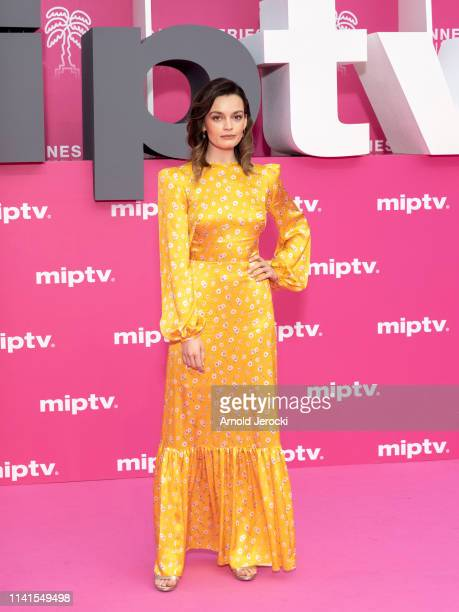 Emma Mackey attends day five of the 2nd Canneseries International Series Festival on April 09 2019 in Cannes France