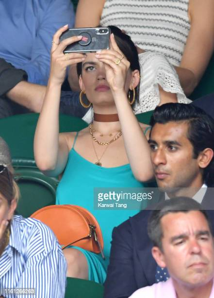 Emma Mackey attends day nine of the Wimbledon Tennis Championships at All England Lawn Tennis and Croquet Club on July 10 2019 in London England