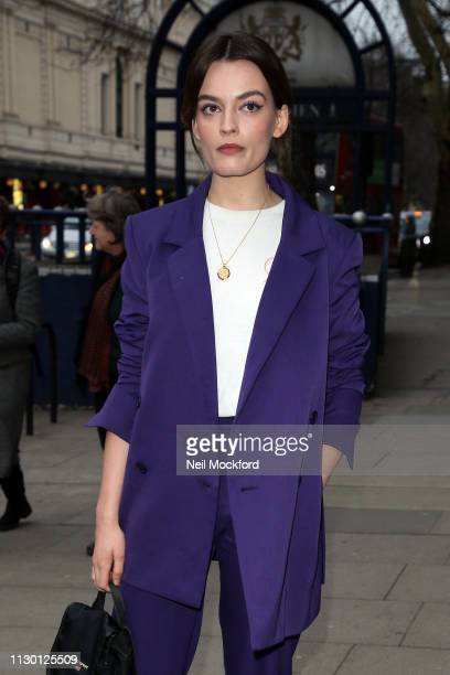 Emma Mackey attends House of Holland at Ambika P3 during LFW February 2019 on February 16 2019 in London England