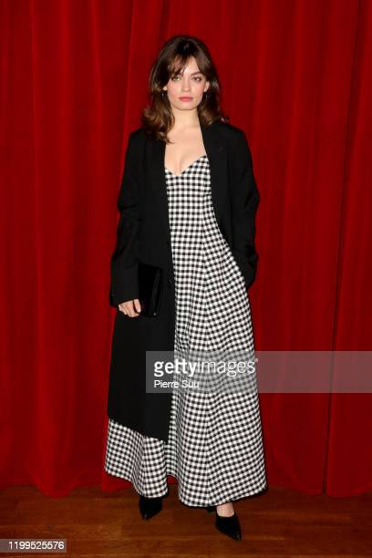 Emma Mackey attends the Ami Alexandre Mattiussi Menswear Fall/Winter 20202021 show as part of Paris Fashion Week on January 14 2020 in Paris France