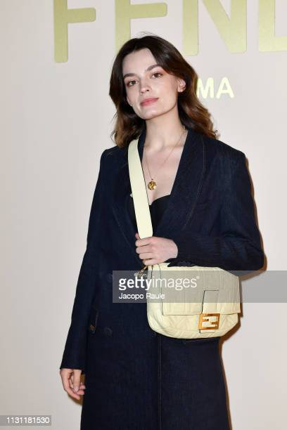 Emma Mackey attends the Fendi show at Milan Fashion Week Autumn/Winter 2019/20 on February 21 2019 in Milan Italy