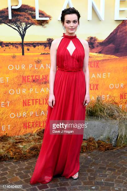 Emma Mackey attends the Our Planet global premiere at Natural History Museum on April 04 2019 in London England