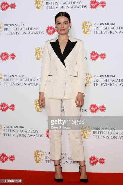 Emma Mackey attends the Virgin Media British Academy Television Awards 2019 at The Royal Festival Hall on May 12 2019 in London England