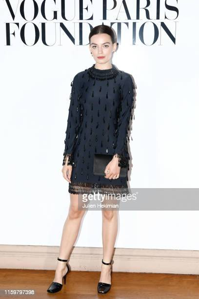 Emma Mackey attends the Vogue diner as part of Paris Fashion Week - Haute Couture Fall Winter 2020 at Le Trianon on July 02, 2019 in Paris, France.