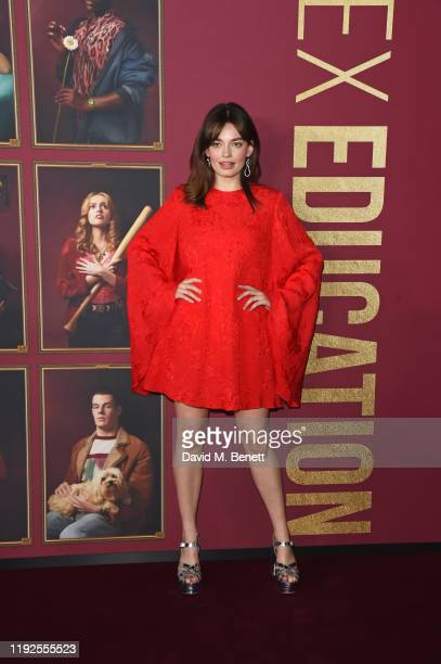 "Emma Mackey attends the World Premiere of Netflix's ""Sex Education"" Season 2 at The Genesis Cinema on January 8, 2020 in London, England."