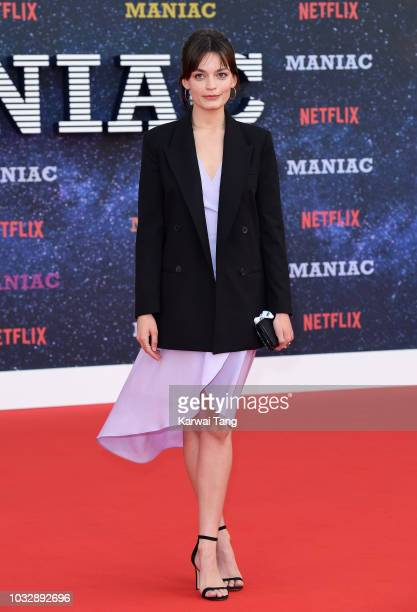 Emma Mackey attends the World premiere of the new Netflix series Maniac at Southbank Centre on September 13 2018 in London England