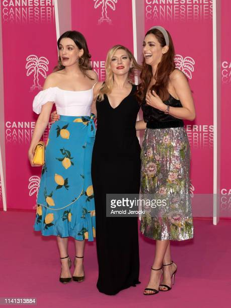 Emma Mackey Katheryn Winnick and Miriam Leone attends day four of the 2nd Canneseries International Series Festival on April 08 2019 in Cannes France