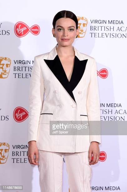 Emma Mackey poses in the Press Room at the Virgin TV BAFTA Television Award at The Royal Festival Hall on May 12 2019 in London England