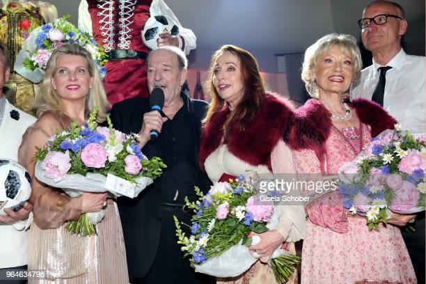 Emma Malinina Ralph Siegel Singer Henriette Heichel Strobel and Edina Pop during the surprise party for the worldwide comeback of Ralph Siegels band...