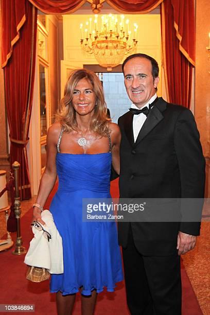Emma Marcegaglia and Andrea Tomat attend the Premio Campiello on September 4, 2010 in Venice, Italy.