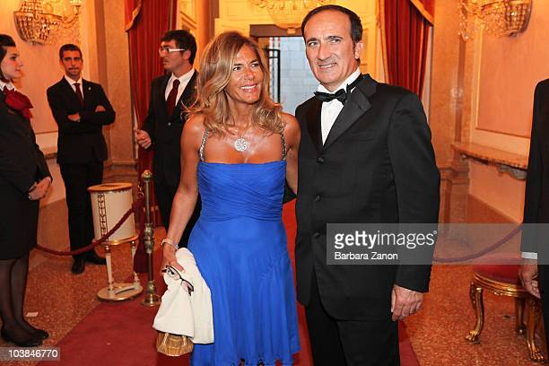 Emma Marcegaglia and Andrea Tomat attend the Premio Campiello on September 4 2010 in Venice Italy