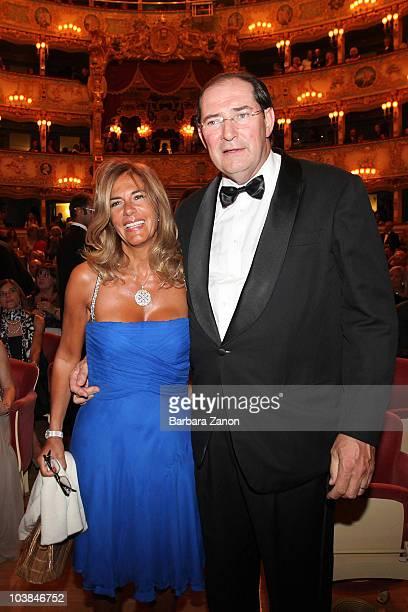 Emma Marcegaglia and Giancarlo Galan attend the Premio Campiello on September 4, 2010 in Venice, Italy.