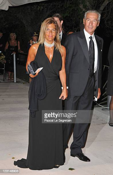Emma Marcegaglia and guest attend the opening dinner during the 68th Venice Film Festival at the Hotel Excelsior on August 31 2011 in Venice Italy