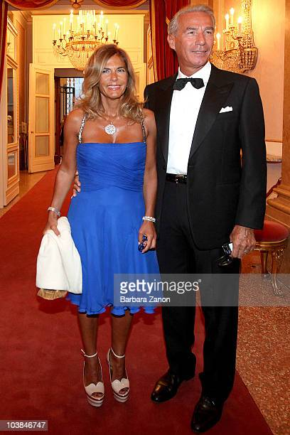 Emma Marcegaglia and huseband attend the Premio Campiello on September 4 2010 in Venice Italy