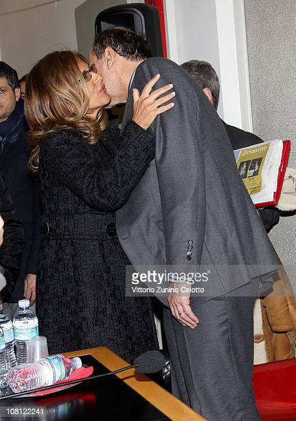 Emma Marcegaglia and Pier Luigi Bersani attend 'Il futuro e di tutti ma e uno solo' book presentation held at Casa della cultura on January 18 2011...