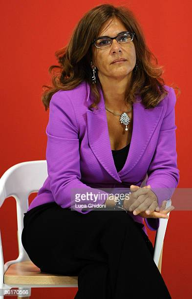 Emma Marcegaglia attends the 2009 Milan International Furniture Fair opening held at the Fiera Milano on April 22 2009 in Milan Italy