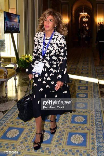 """Emma Marcegaglia attends the Ambrosetti International Economic Forum 2019 """"Lo scenario dell'Economia e della Finanza"""" on September 6, 2019 in..."""