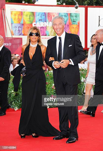 Emma Marcegaglia attends The Ides of March Premiere during the 68th Venice International Film Festival at Palazzo del Cinema on August 31 2011 in...