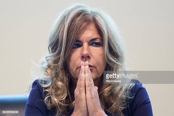 Emma Marcegaglia, chairman of Eni SpA, pause during the Future Of Energy Forum in Rome, Italy on Tuesday, Sept. 20, 2016. Oil has fluctuated since...