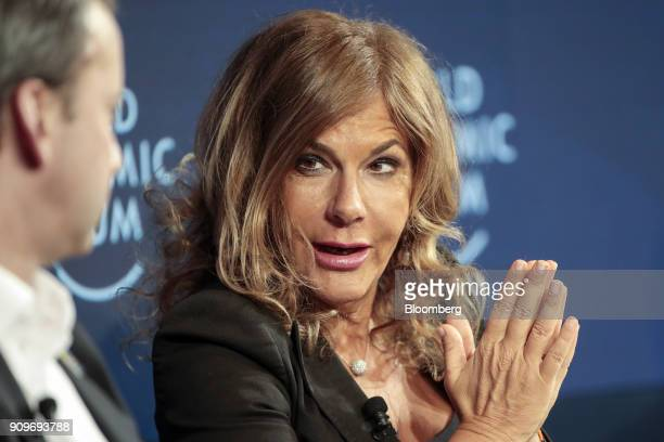 Emma Marcegaglia, chairman of Eni SpA, speaks during a Bloomberg panel session on day two of the World Economic Forum in Davos, Switzerland, on...