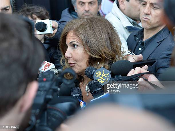 Emma Marcegaglia during Election of the new president of Confindustria in Rome on March 31 2016