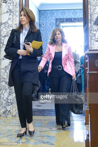 Emma Marcegaglia during the Annual Report of the Bank of Italy at Palazzo Koch on May 31 2019 in Rome Italy