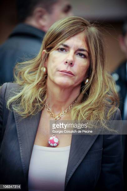 Emma Marcegaglia head of the Italian employers lobby the Confindustria attends the meeting 'After the crisis the way ahead' promoted by Luiss...