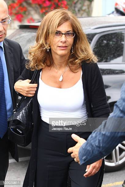 Emma Marcegaglia is seen on June 12 2010 in Portofino Italy
