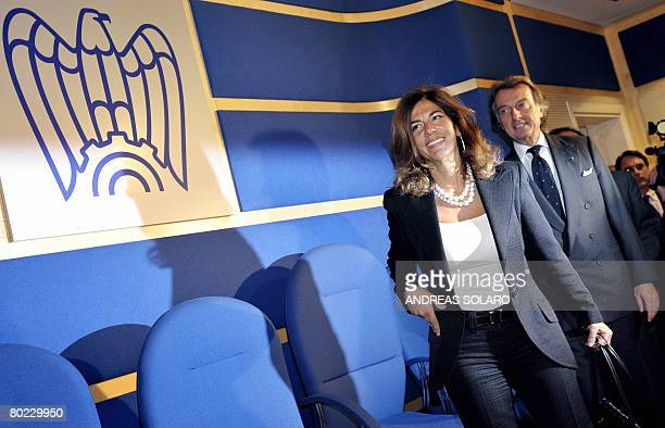 Emma Marcegaglia , newly elected president of Italy's Confindustria national employers' association, arrives for a joint press conference with former...