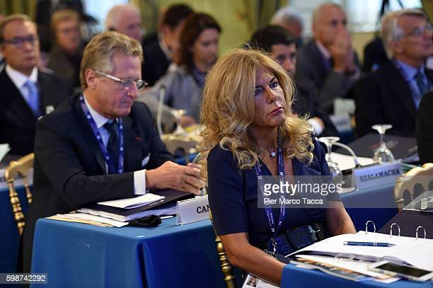 Emma Marcegaglia President of ENI attends the Ambrosetti International Forum on September 2 2016 in Cernobbio near Como Italy 'Intelligenge on the...