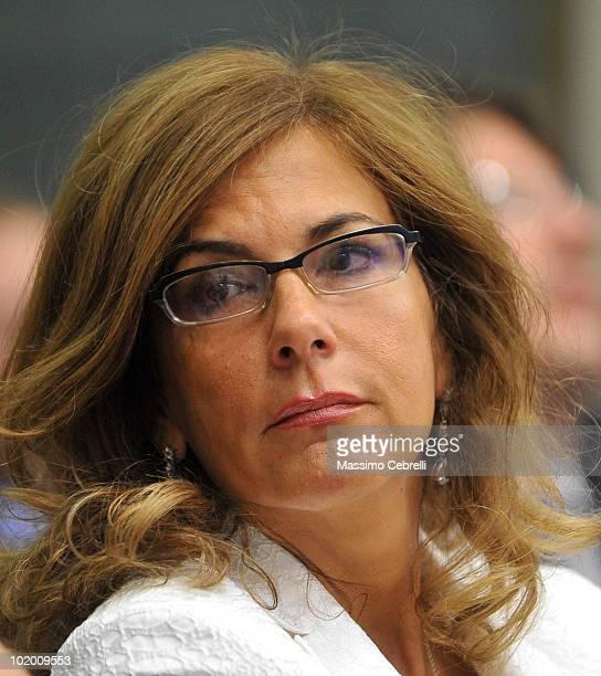 Emma Marcegaglia, the President of Confindustria, attends the 40th Santa Margherita Ligure Congress at the Grand Hotel Miramare on June 12, 2010 in...