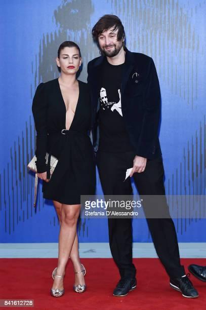 Emma Marrone and Francesco Vezzoli attend the Franca Sozzanzi Award during the 74th Venice Film Festival on September 1 2017 in Venice Italy