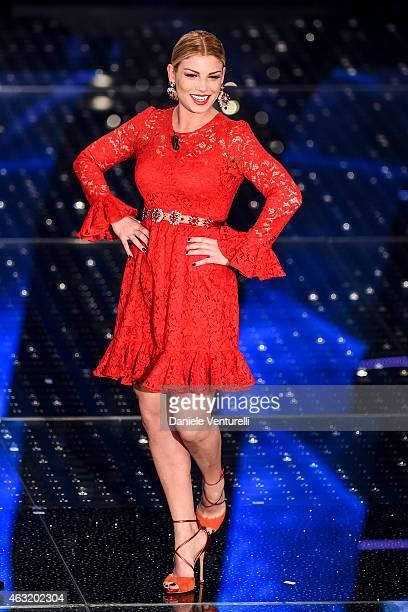 Emma Marrone attends second night 65th Festival di Sanremo 2015 at Teatro Ariston on February 11 2015 in Sanremo Italy