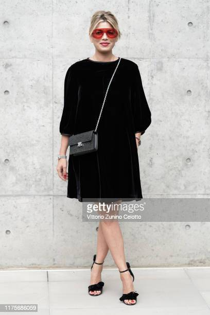 Emma Marrone attends the Emporio Armani fashion show during the Milan Fashion Week Spring/Summer 2020 on September 19 2019 in Milan Italy