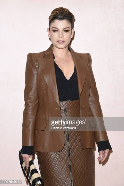 Emma Marrone attends the Fendi fashion show on February 20 2020 in Milan Italy