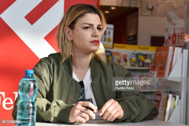 LAFELTRINELLI NAPLES ITALY Emma Marrone famous Italian singer presents her new album 'Essere qui' and meets his fans at the Feltrinelli of Napoli