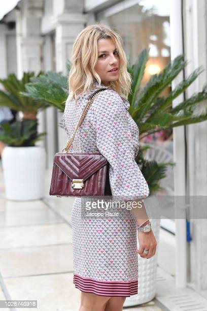 Emma Marrone is seen during the 75th Venice Film Festival on August 31 2018 in Venice Italy