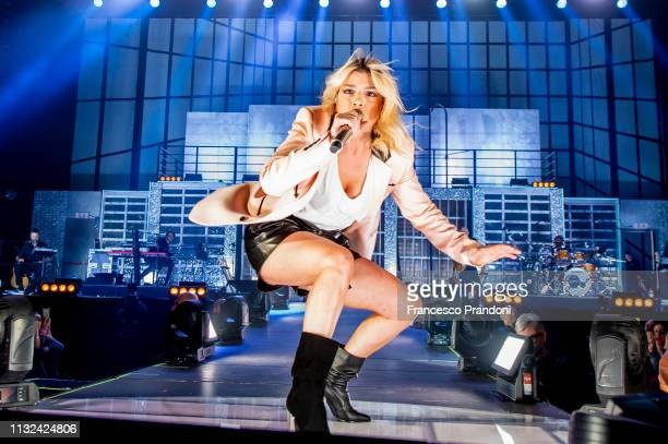 Emma Marrone performs on stage at Forum on February 26 2019 in Milan Italy