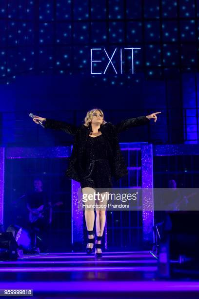 Emma Marrone performs on stage at Mediolanum Forum on May 18, 2018 in Milan, Italy.
