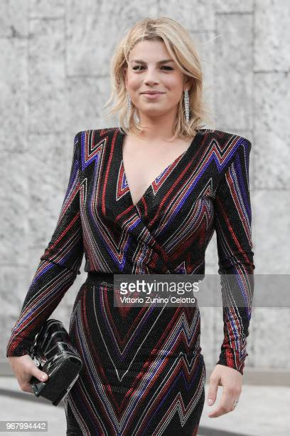 Emma Marrone poses on June 5 2018 in Milan Italy