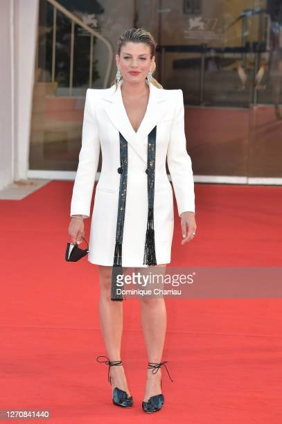 "Emma Marrone walks the red carpet ahead of the movie ""Miss Marx"" at the 77th Venice Film Festival on September 05, 2020 in Venice, Italy."