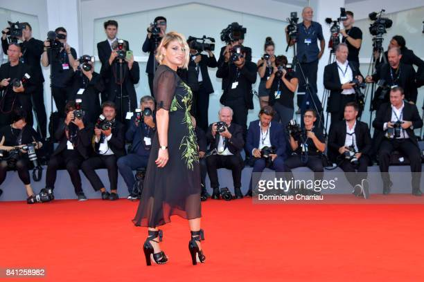 Emma Marrone walks the red carpet ahead of the 'The Shape Of Water' screening during the 74th Venice Film Festival at Sala Grande on August 31 2017...