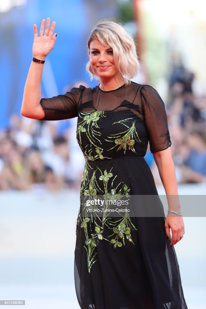 Emma Marrone walks the red carpet ahead of the 'The Shape Of Water' screening during the 74th Venice Film Festival at Sala Grande on August 31, 2017 in Venice, Italy.