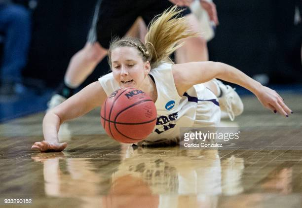 Emma McCarthy of Amherst College chased a loose ball during the Division III Women's Basketball Championship held at the Mayo Civic Center on March...